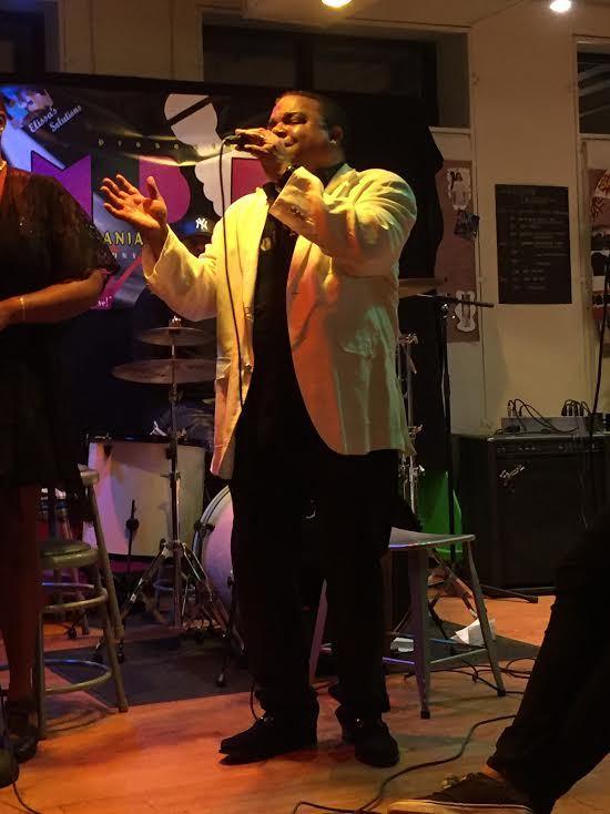 Mike performing at Dreamyard