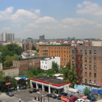 View from the roof of 161st St. and Melrose Ave. before reconstruction.