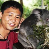 Mark and Koala in Australia.JPG
